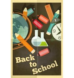 School poster chalkboard vector