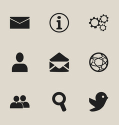 set of 9 editable web icons includes symbols such vector image vector image