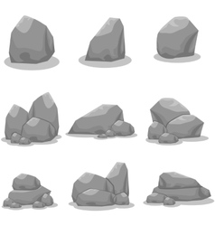 Set of stones element art vector