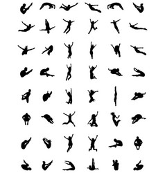 Silhouettes of jumping vector