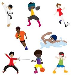 sport man 1 vector image vector image