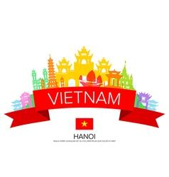 Vietnam Travel hanoi Travel vector image