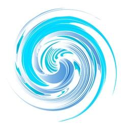 Vortex background blue vector