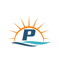 Wave sunset initial p vector