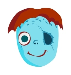 Zombie Head Cartoon Character vector image vector image