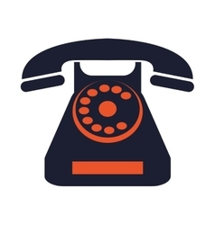 Rotary telephone icon vector