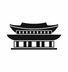 Gyeongbokgung palace seoul icon simple style vector