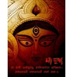 Goddess Durga in Subho Bijoya Happy Dussehra vector image