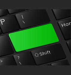 Green button on keyboard macro vector