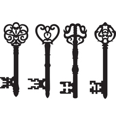 Old key collection vector image