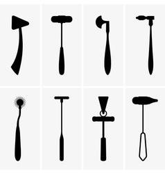 Medical reflex hammers vector image