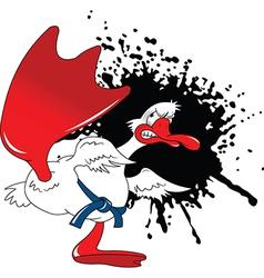 Karate goose cartoon vector