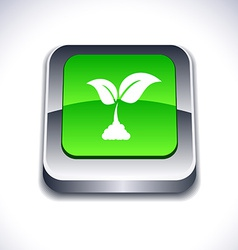 Ecology 3d button vector
