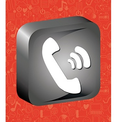 call button vector image