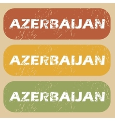 Vintage azerbaijan stamp set vector