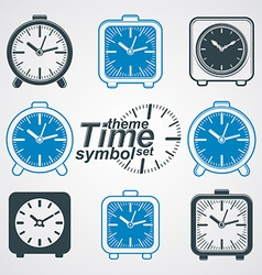 Set of simple elegant table clocks eps 8 high vector