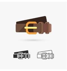 Leather belt vector image