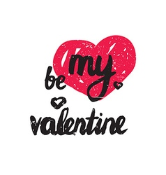 Be my valentine trendy poster for happy valentines vector