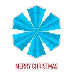 Snowflake Corner paper 19 vector image