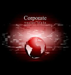Abstract technology world globe backdrop vector image vector image