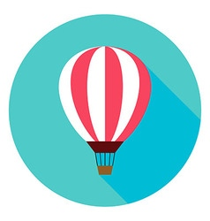 Air Balloon Circle Icon vector image vector image