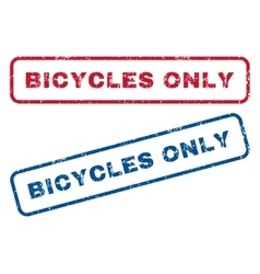 Bicycles only rubber stamps vector