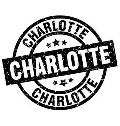 Charlotte black round grunge stamp vector
