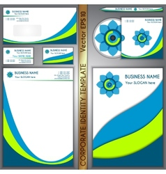 corporate brand template vector image vector image