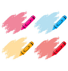crayons in four colors vector image
