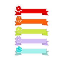 Cute ribbons with flower vector image
