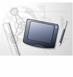 designer's desktop vector image vector image