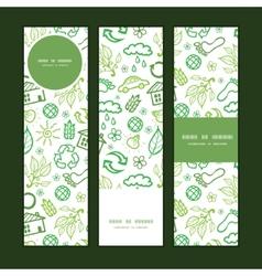 ecology symbols vertical banners set pattern vector image