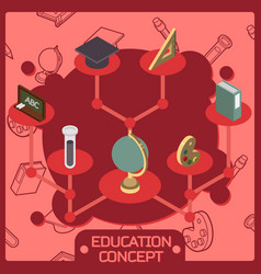 education color isometric concept vector image