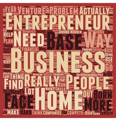 Entrepreneur home based business 1 text background vector