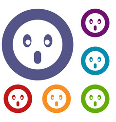 frightened emoticons set vector image vector image
