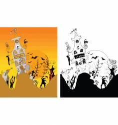 halloween horror vector image vector image