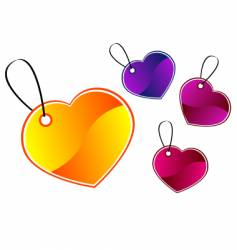 Heart gift tags vector