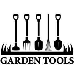 icon with set garden tools vector image