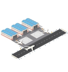 Isometric city airport vector
