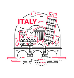 Italy - modern line travel vector