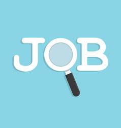 Job search concept vector