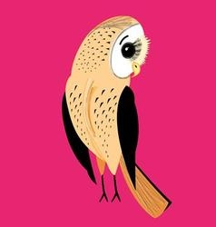 Large a graphical a fun night owl on a red vector