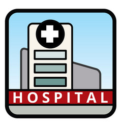 Large hospital building vector