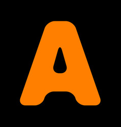 letter a sign design template element orange icon vector image