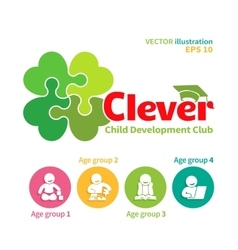 Logo of child development club vector
