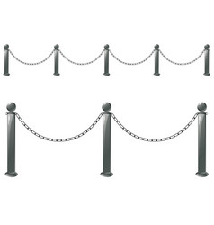 Metal barrier stand vector
