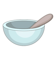 Mortar and pestle icon cartoon style vector image