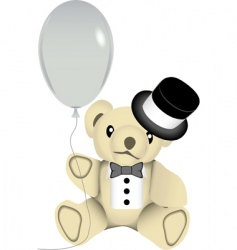 new year bear vector image