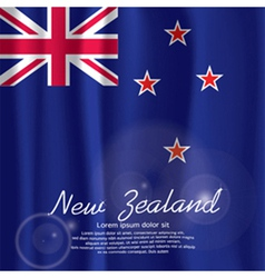 New Zealand Flag Curtain vector image vector image