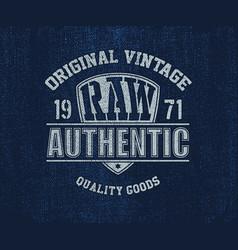 Original vintage denim print for t-shirt vector